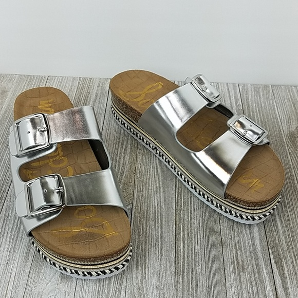 4d397f5ce43d New Sam Edelman Oakley Silver Sandals